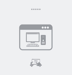 computer application icon vector image