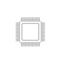 Cpu flat icon vector