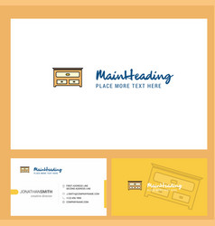cupboard logo design with tagline front and back vector image