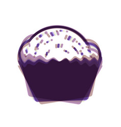 cupcake sign colorful icon shaked with vector image vector image