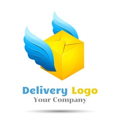 Delivery Colorful 3d Volume Logo Design Corporate vector image