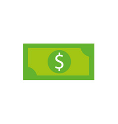 dollar money banknote cash shopping icon vector image