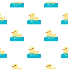 Duck toy cartoon icon for web and vector
