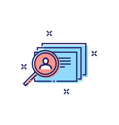employee search concept icon vector image