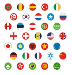 flags world icons set vector image