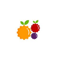 gear fruit logo icon design vector image