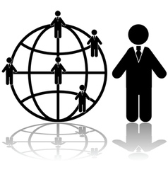 Global business connections vector image