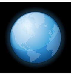 globe icon world on black background vector image
