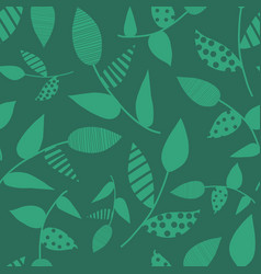 green abstract leaves seamless background vector image