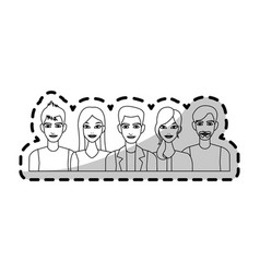 group of atractive men and women icon image vector image
