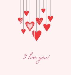Hanging hearts vector