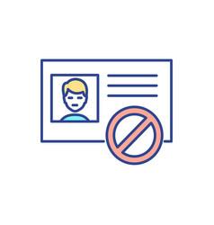 Identity fraud rgb color icon vector