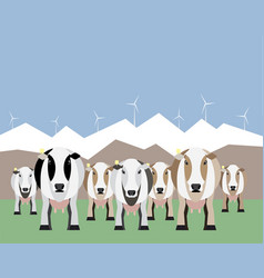 Internet of things on dairy farm vector