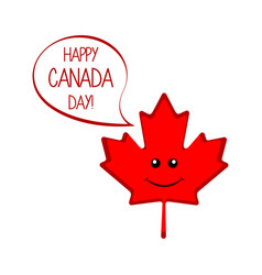 isolated maple leaf canada day vector image