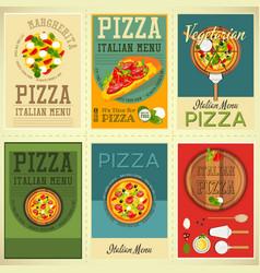 Italian pizza posters set vector