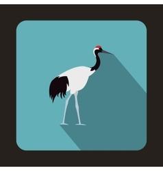 Japanese crane icon flat style vector