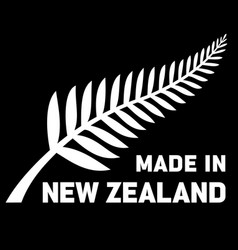 made in new zealand silver fern logo icon vector image