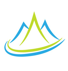 mountain terrain and landscape icon vector image