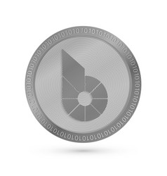 Realistic silver bitshares icon isolated on white vector