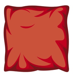 Red pillow vector