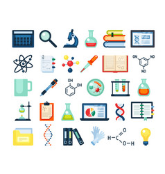 scientific research inventory set electron vector image