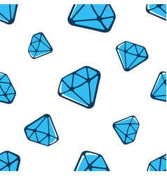 seamless pattern with big and small blue diamonds vector image