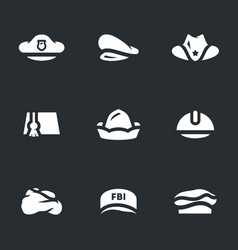 Set of hats icons vector