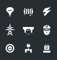 set of power bridge icons vector image