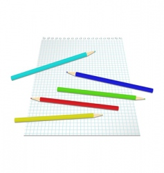sheet of paper with pencils vector image