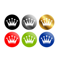 simple crown round icons vector image