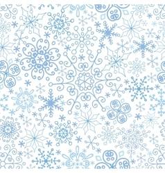 Snowflake seamless patternlaceWinterChristmas vector image