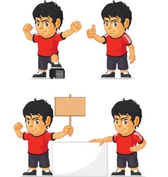Soccer Boy Customizable Mascot 18 vector