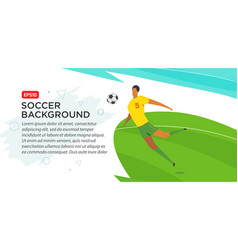 Soccer players championship fool color vector