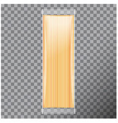 Spaghetti capellini pasta transparent package vector