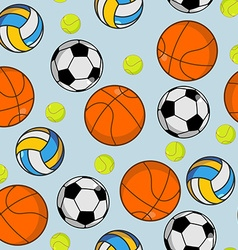 Sports ball seamless pattern Balls ornament vector image