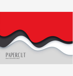 Stylish red papercut layers background vector