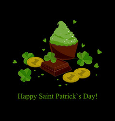 stylish seamless st patricks day background with vector image