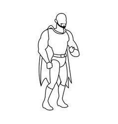 Superhero cartoon suit disguise power style vector