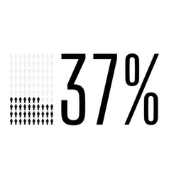 Thirty seven percent people chart graphic 37 vector