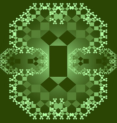 Tile set with square patterns in fractal style vector