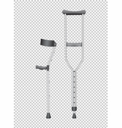 two walking sticks for handicaped vector image