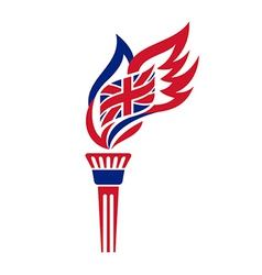 uk torch vector image