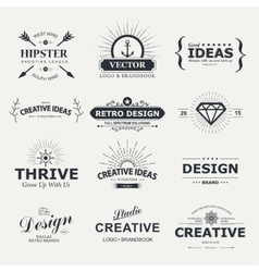 Vintage design elements retro style typography vector