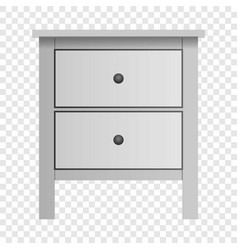 White double drawer mockup realistic style vector