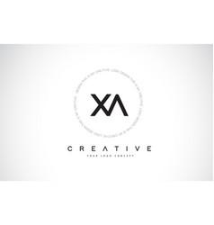 Xa x a logo design with black and white creative vector