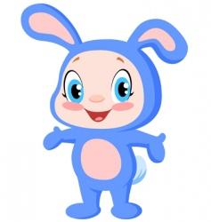 baby bunny vector image vector image