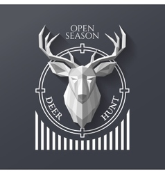 hunter socirty deer vector image vector image