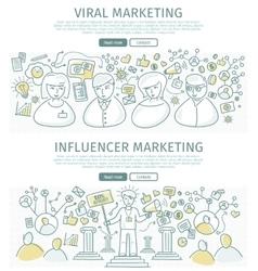 Set of marketing flat design web banners vector