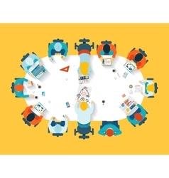 Teamwork Business brainstorming top view vector image vector image