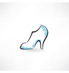 women shoe grunge icon vector image vector image